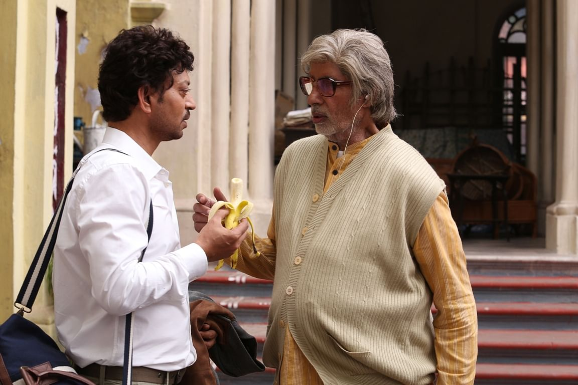 Irrfan Khan and Amitabh Bachchan in <i>Piku</i>