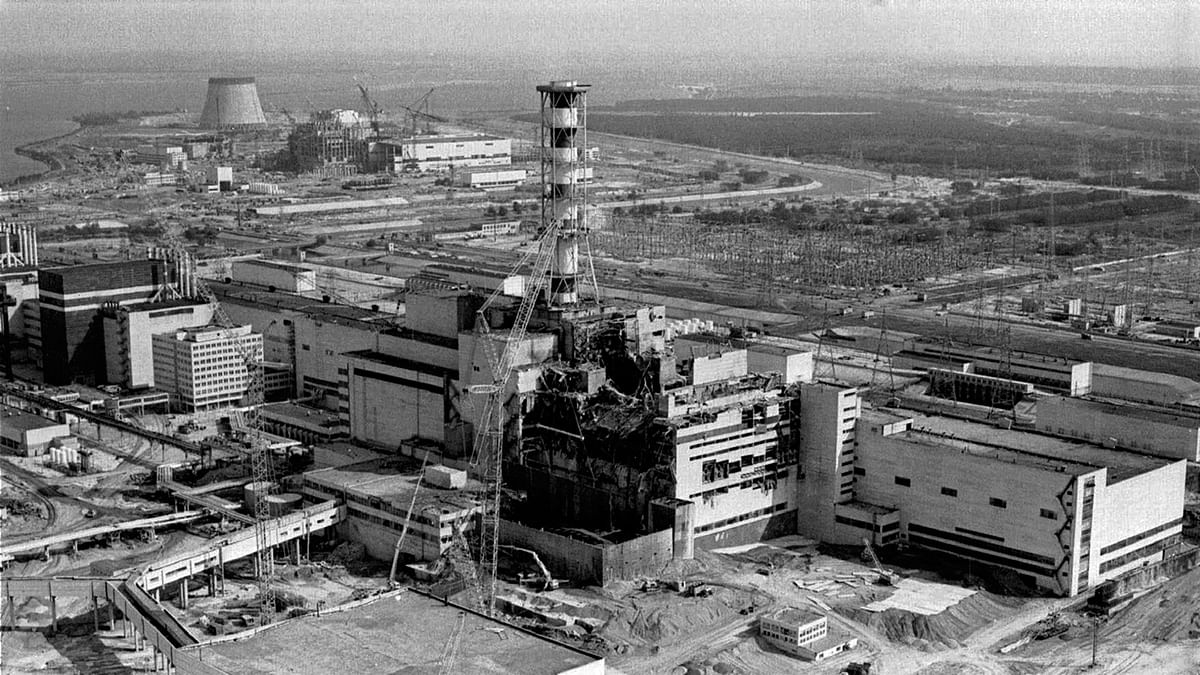 A file photo showing an aerial view of the damage at the Chernobyl nuclear plant, after an explosion and fire broke out, exposing the surrounding areas to fatal radioactive debris. (Photo: AP)