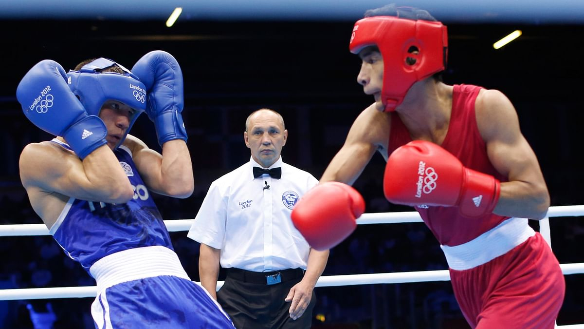 Shiva Thapa in action during the 2012 London Olympics. (Photo: Reuters)
