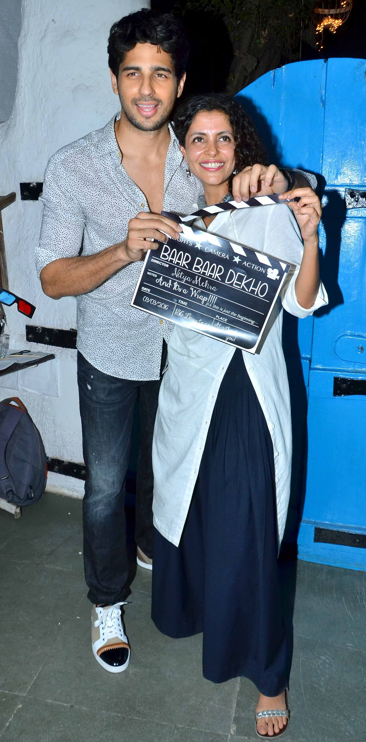 Sid with director Nitya Mehra (Photo: Yogen Shah)