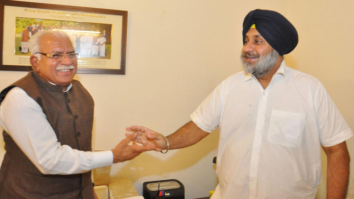 Punjab-Haryana Leaders Flogged SYL Issue to Score Brownie Points