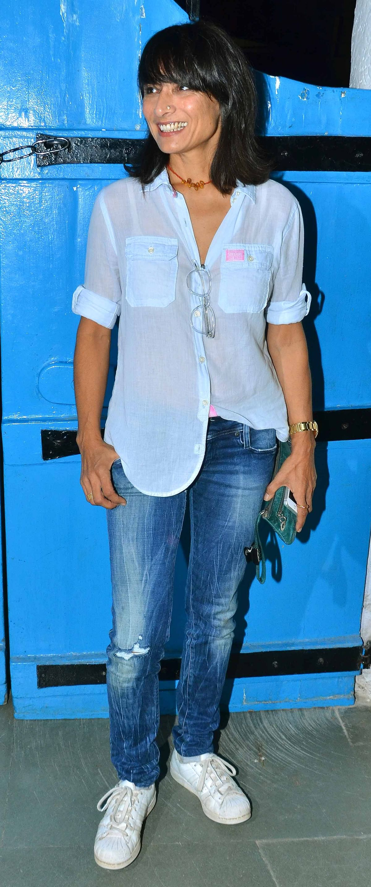 Farhan Akhtar's ex-wife Adhuna was also present at the party (Photo: Yogen Shah)
