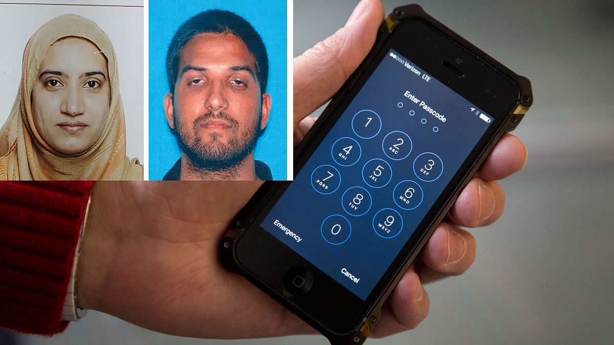 An iPhone was seen in Washington. FBI Director James Comey hinted at an event in London on Thursday, 21 April 2016, that the FBI paid more than $1 million to break into the locked iPhone used by one of the San Bernardino attackers. (Photo: AP)