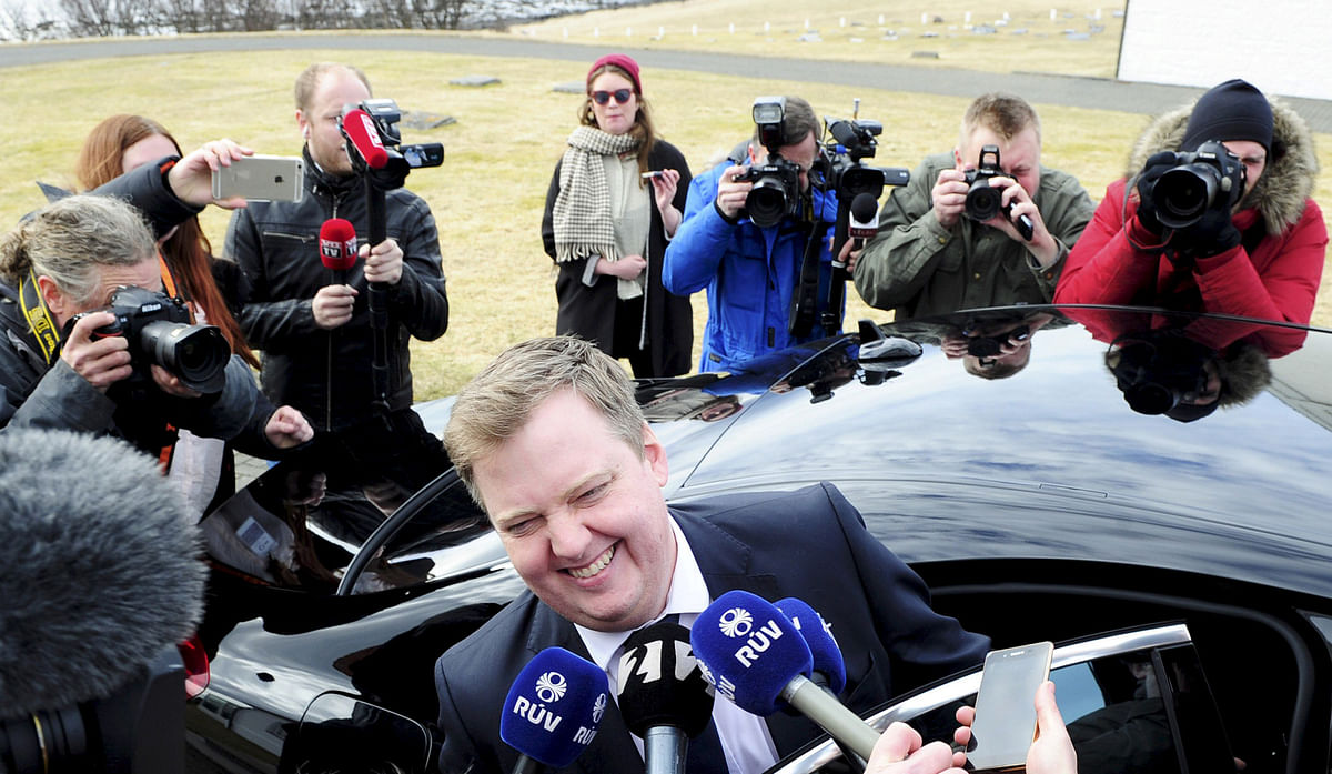 Iceland's Prime Minister Sigmundur David Gunnlaugsson, has faced flak after it came to light that his wife owned an offshore company with claims on Icelandic banks. (Photo: Reuters)