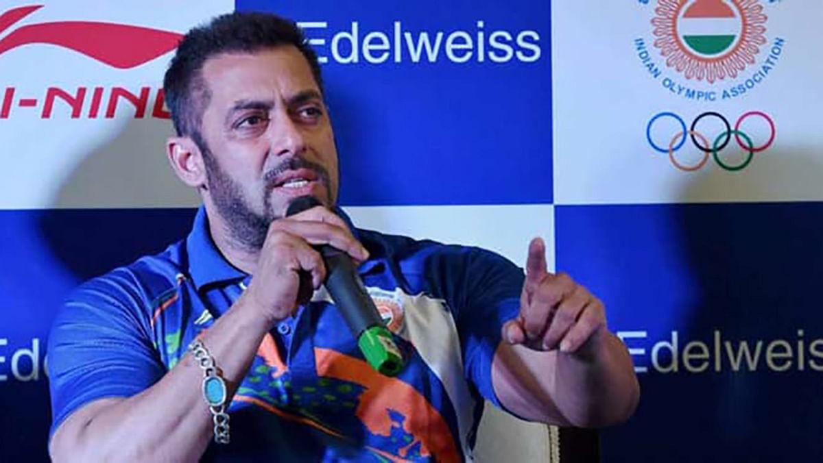 Salman Khan at a press conference. (Photo: PTI)