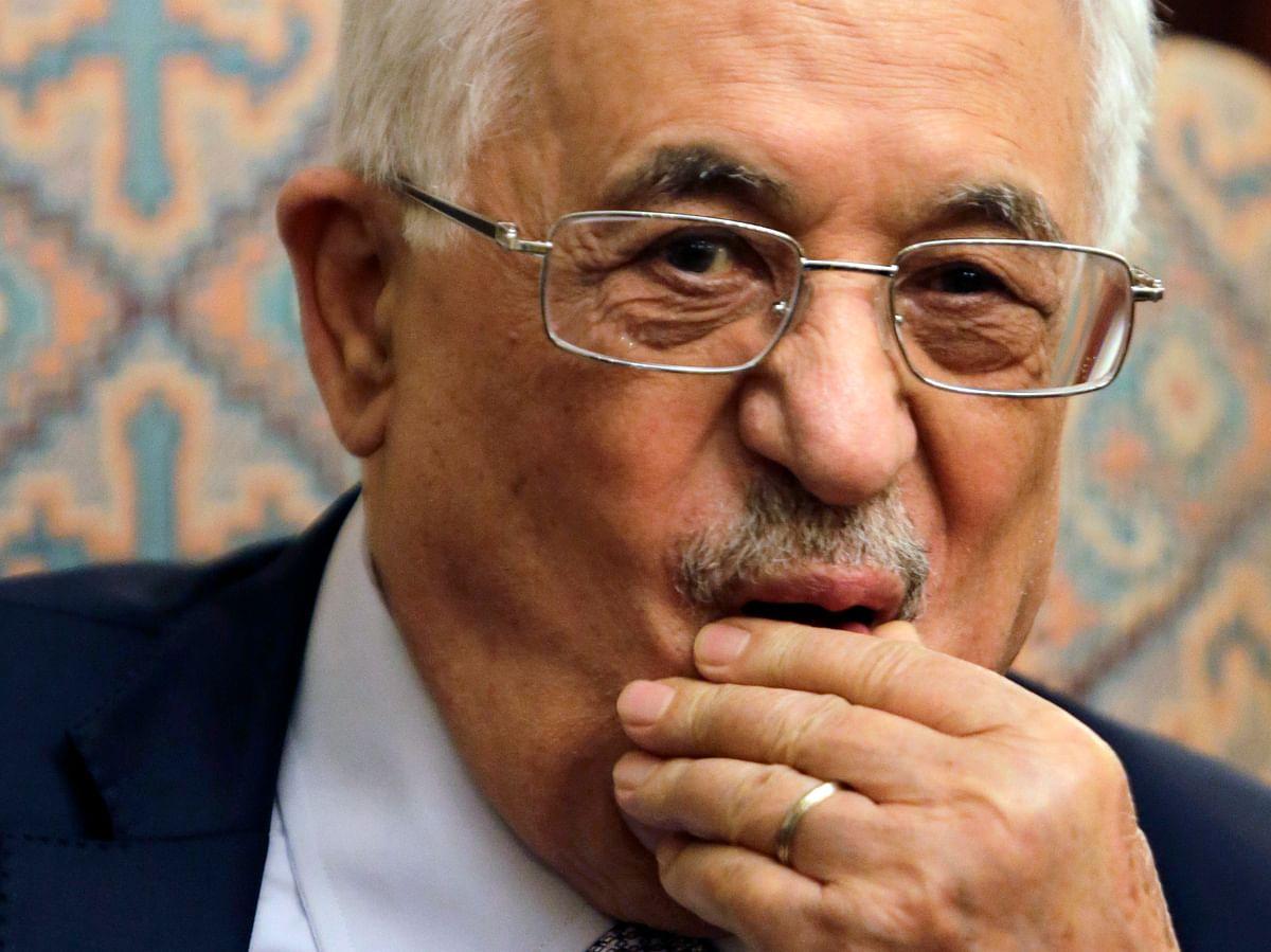 Purse your lips if you felt a buuuurn. Mahmoud Abbas, President of Palestine. (Photo: AP)