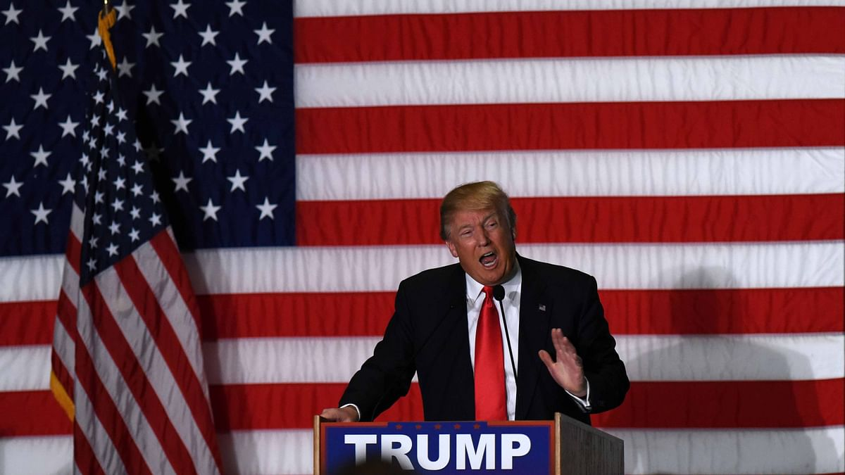 Republican presidential candidate Donald Trump speaks at a campaign rally in Cedar Rapids, Iowa, the United States, Feb 1, 2016. (Photo: IANS)