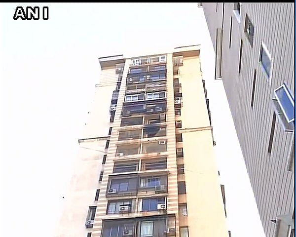 """Fire broke out on the thirteenth floor of the building. (Photo Courtesy: <a href=""""https://twitter.com/ANI_news/status/720445786157424640"""">Twitter.com/ANI</a>)"""