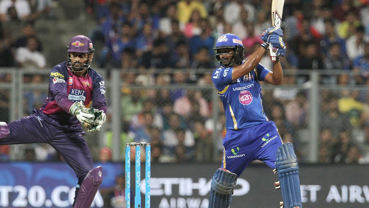 Ambati Rayudu tried saving the sinking boat for MI with his knock of 22 from 27 balls (Photo: BCCI)
