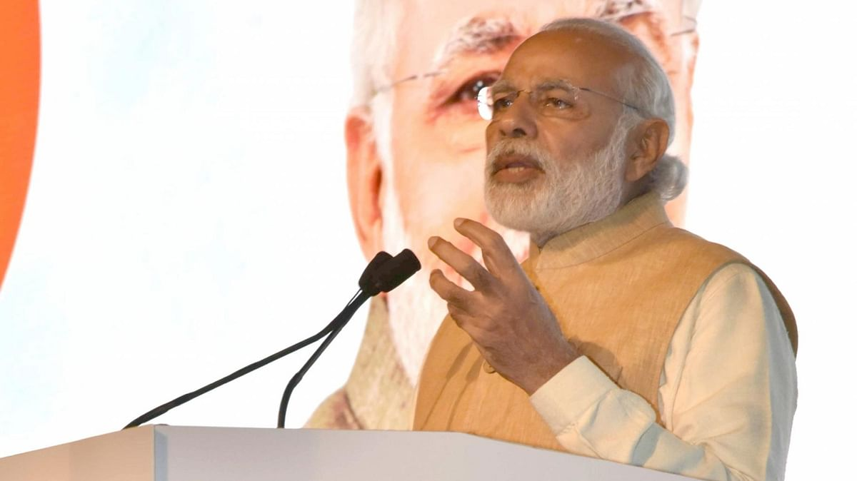 Prime Minister Narendra Modi addresses at the Maritime India Summit, in Mumbai. (Photo: IANS)