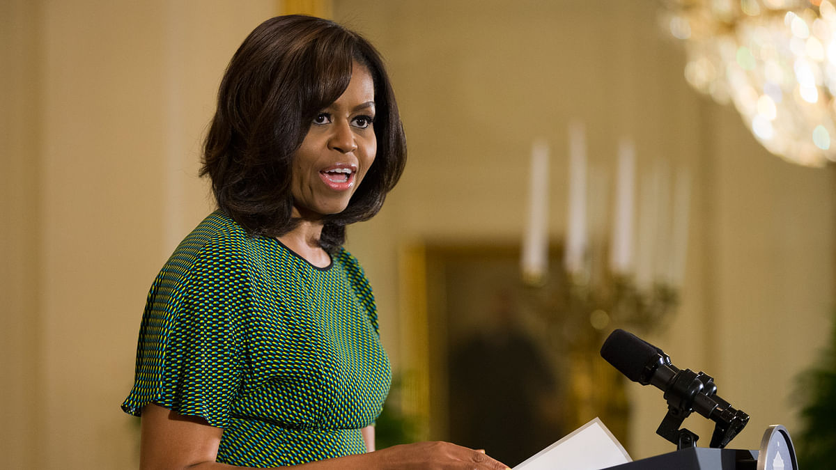 First lady Michelle Obama speaks in the East Room of the White House in Washington, Wednesday, 6 April  2016, during an event to celebrate Nowruz. (Photo: AP)