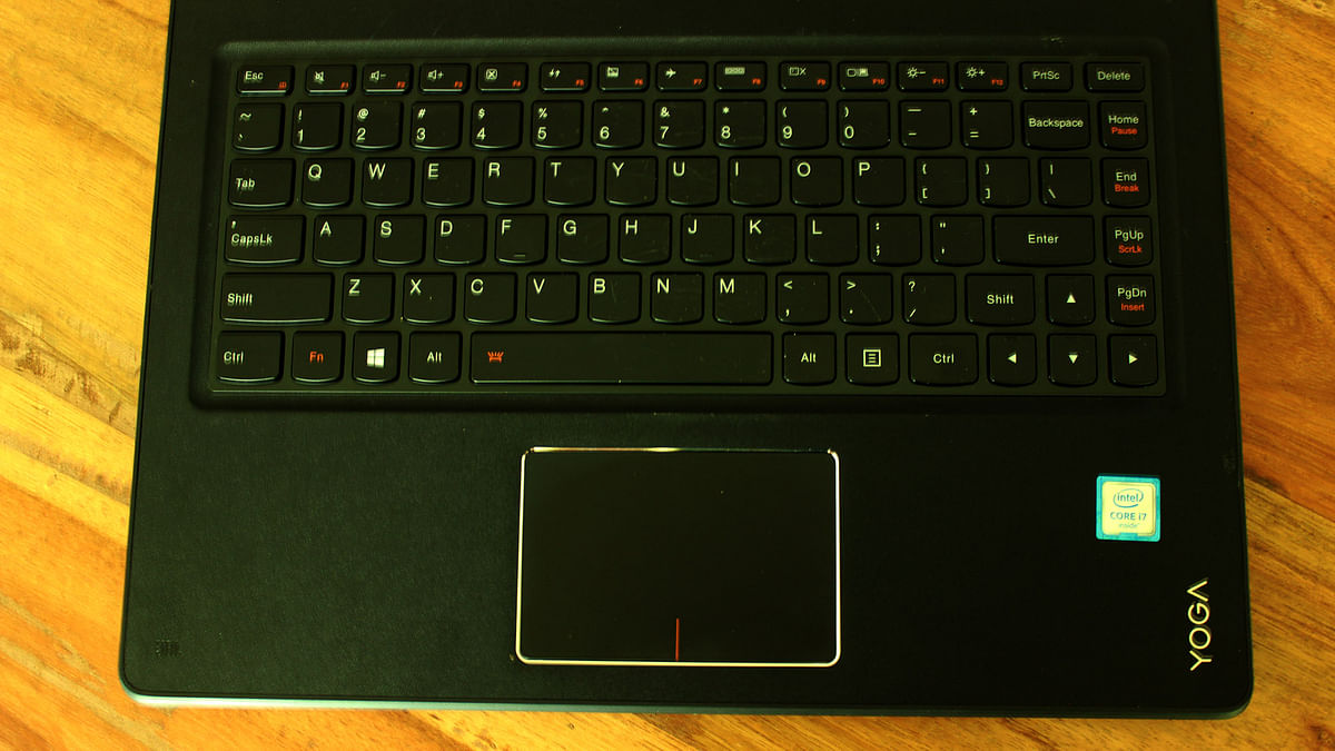 The  keyboard on the Lenovo Yoga 900. (Photo: <b>The Quint</b>)