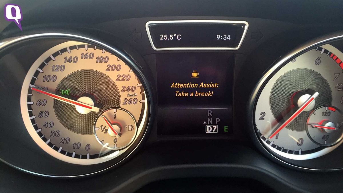 Mercedes-Benz CLA200's  Attention Assist. (Photo: <b>The Quint</b>)