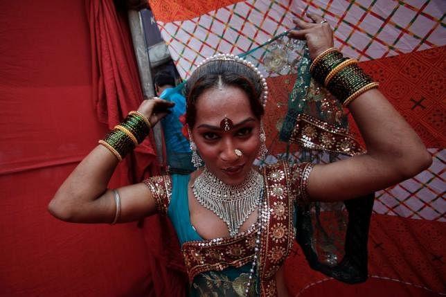 A sex worker in Kamathipura area in Mumbai. (Photo: Reuters)