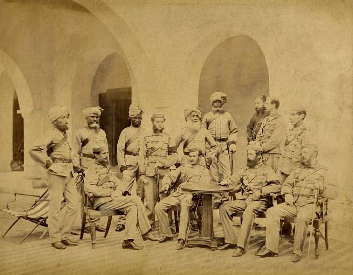 A group photograph of 21st (Punjab) Regiment of Bengal Native Infantry. (Photo Courtesy: Punjab Regimental Centre, Mardan – now in Pakistan)