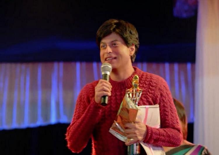 Shah Rukh Khan in a still from <i>Fan</i>