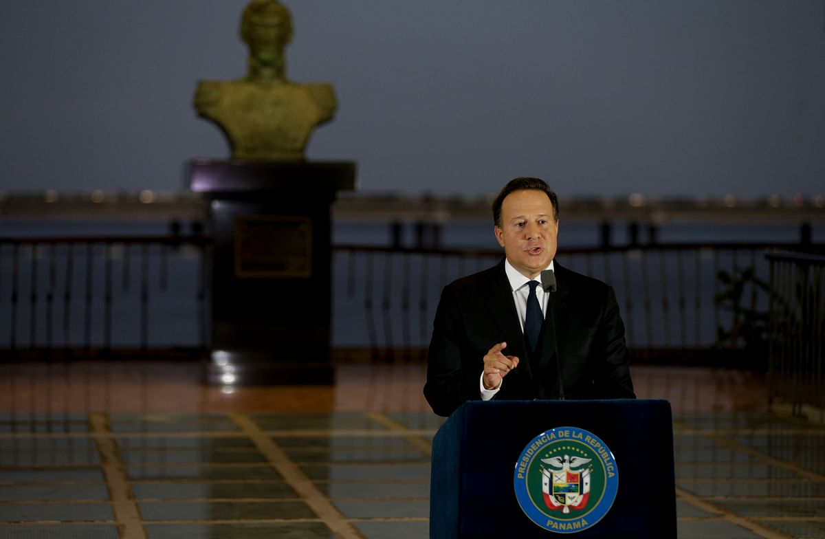 Panama's President Juan Carlos Varela gives a televised statement to the nation, in Panama City. (Photo: AP)