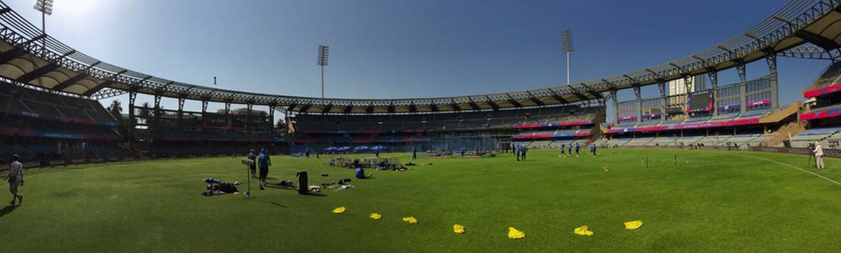 "Over 40 lakh litres water will be used for the seven IPL matches to be held at Wankhede. (Photo: Twitter/<a href=""https://twitter.com/BCCI"">@BCCI</a>)"
