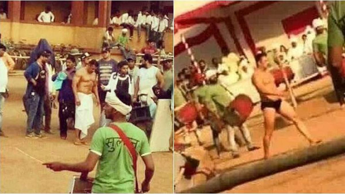 Salman Khan in a <i>langot </i>on the sets of <i>Sultan </i>(Photo courtesy: Twitter)