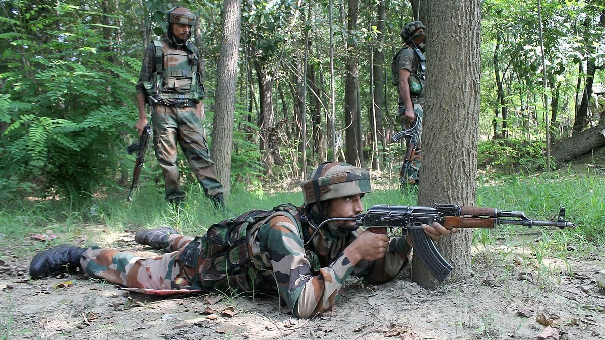 File photo of security forces taking positions during an encounter. (Photo: PTI)