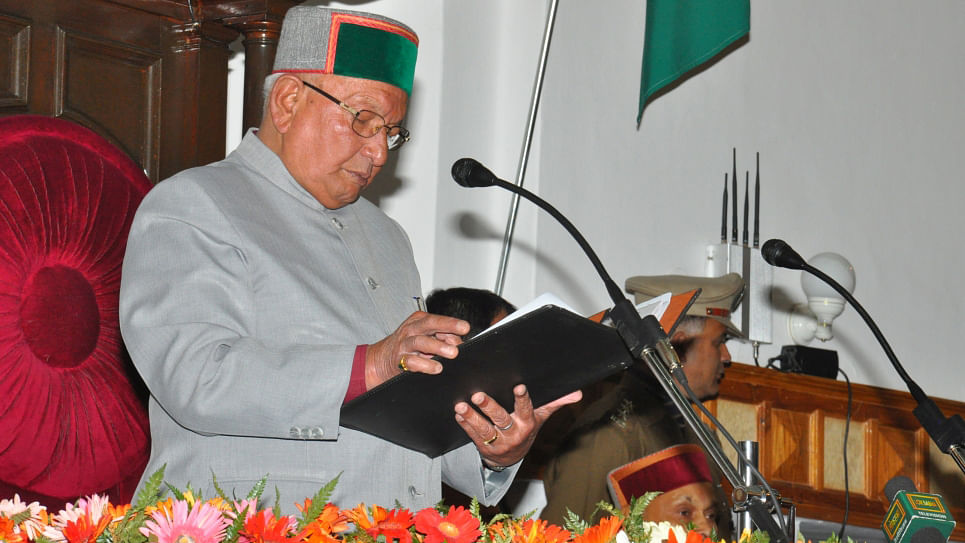 """BBL Butail giving speech on the occasion of Golden Jubilee function ceremony of HP Vidhan Sabha (Photo Courtesy: <a href=""""http://hpvidhansabha.nic.in/Member/SpeakerGallery/48"""">Himachal Pradesh Legislative Assembly Gallery)</a>"""