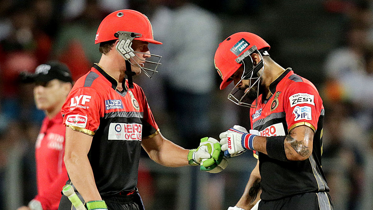 Kohli and AB de Villiers guided RCB to a huge score. (Photo: BCCI)