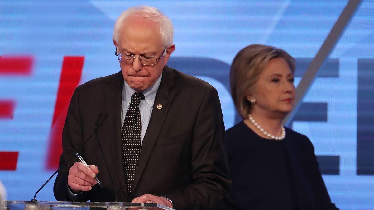 Democratic US presidential candidate Senator Bernie Sanders and his rival Hillary Clinton. (Photo: Reuters)