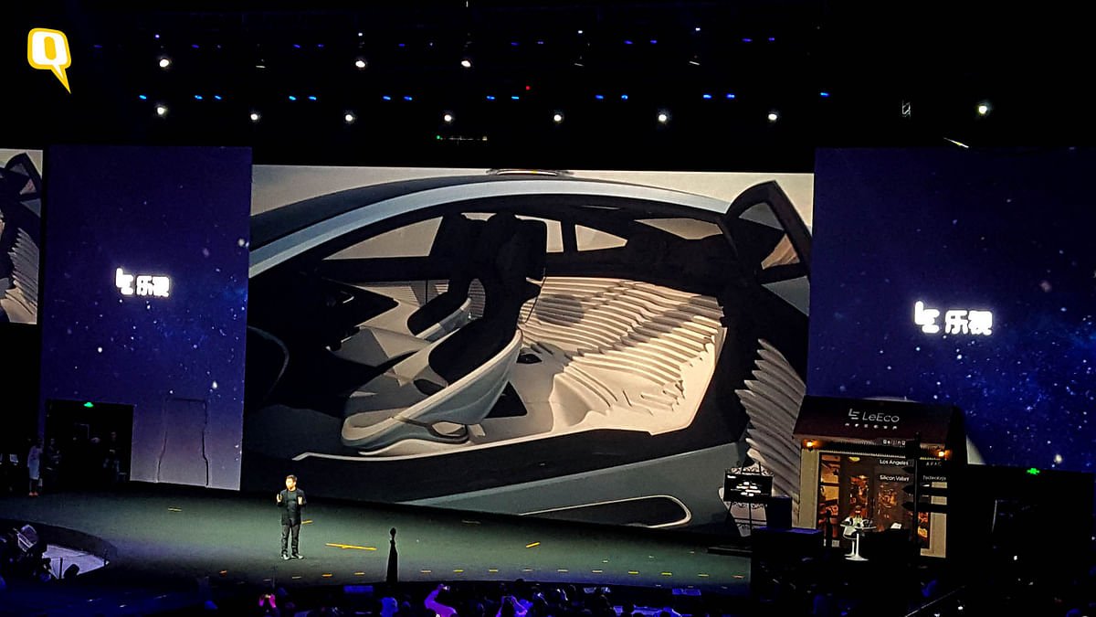 The interiors of the LeEco Super Car is your gateway to the future. (Photo: <b>The Quint</b>)