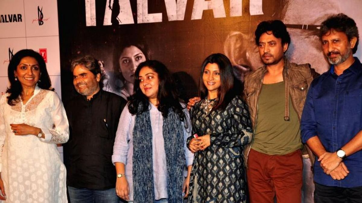 Vishal Bhardwaj with team <i>Talvar </i>at a promotional event