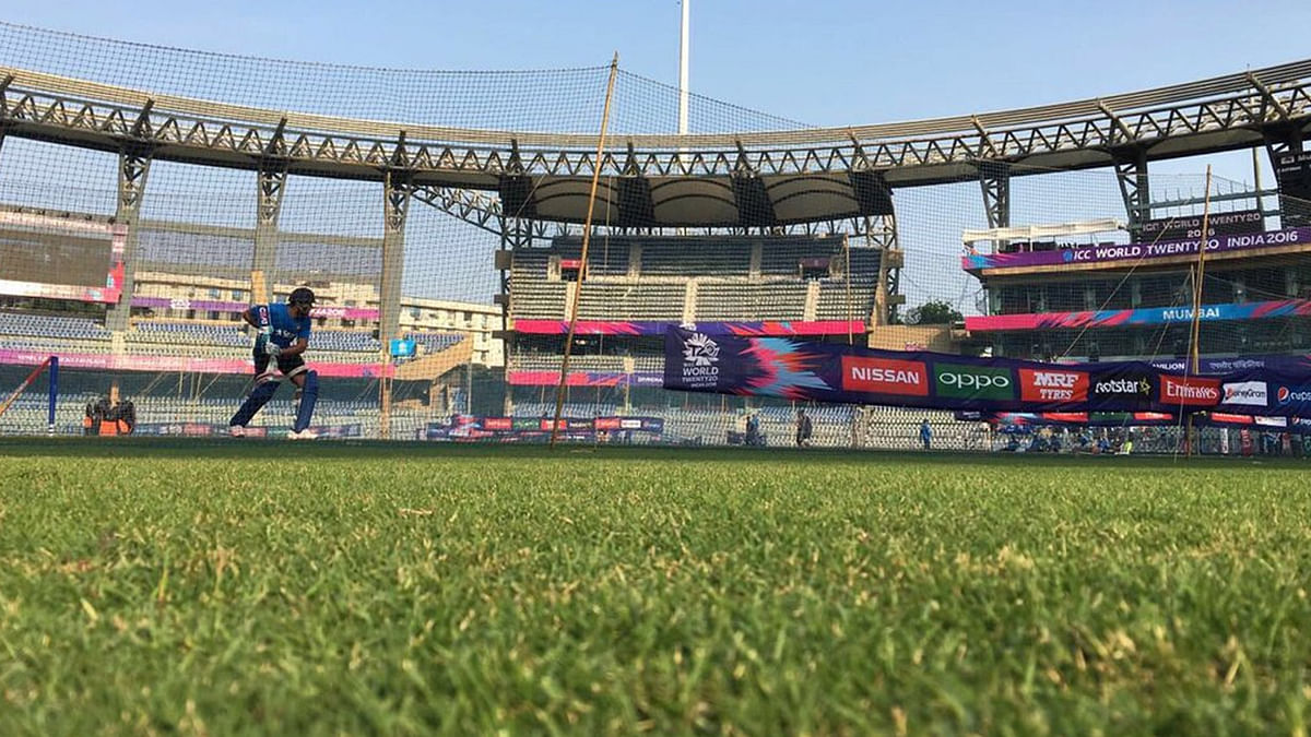 """Over 40 lakh litres of water is needed for the seven IPL matches to be held at Wankhede. (Photo Courtesy: Twitter/<a href=""""https://twitter.com/BCCI"""">@BCCI</a>)"""