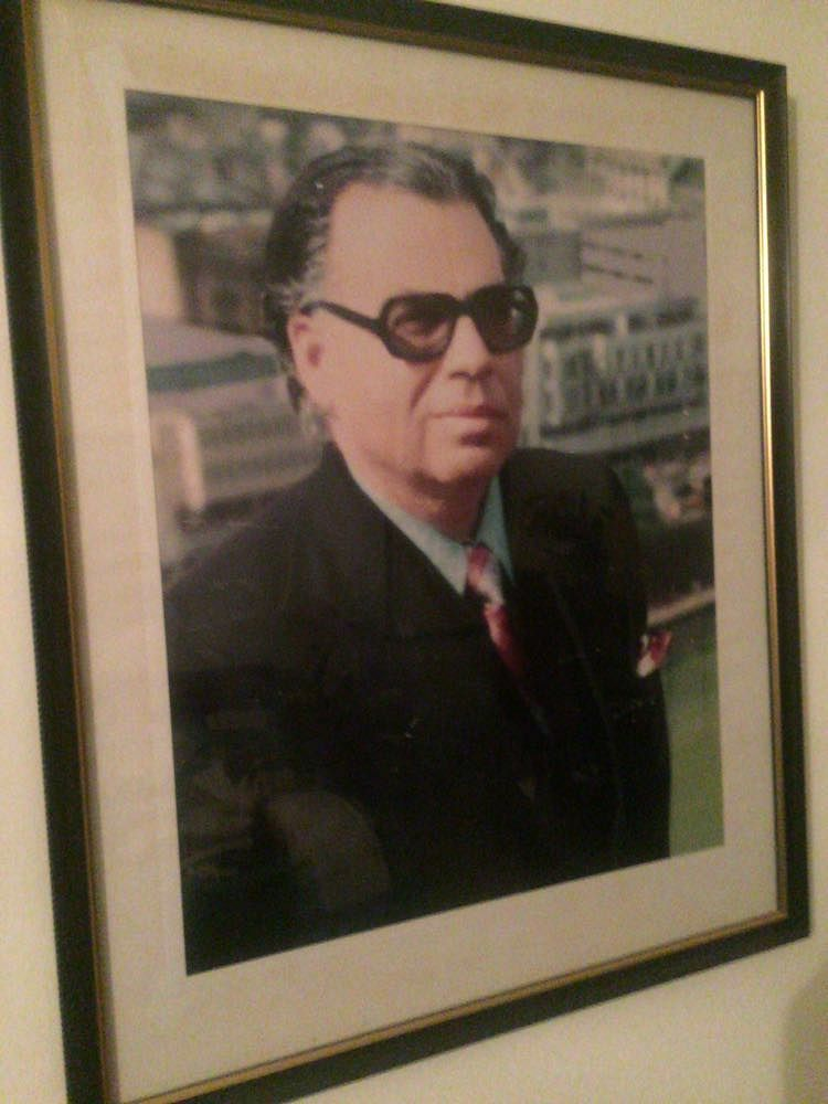 Our prized portrait of him on one of his trips abroad. (Photo Courtesy: Shaira Mohan)