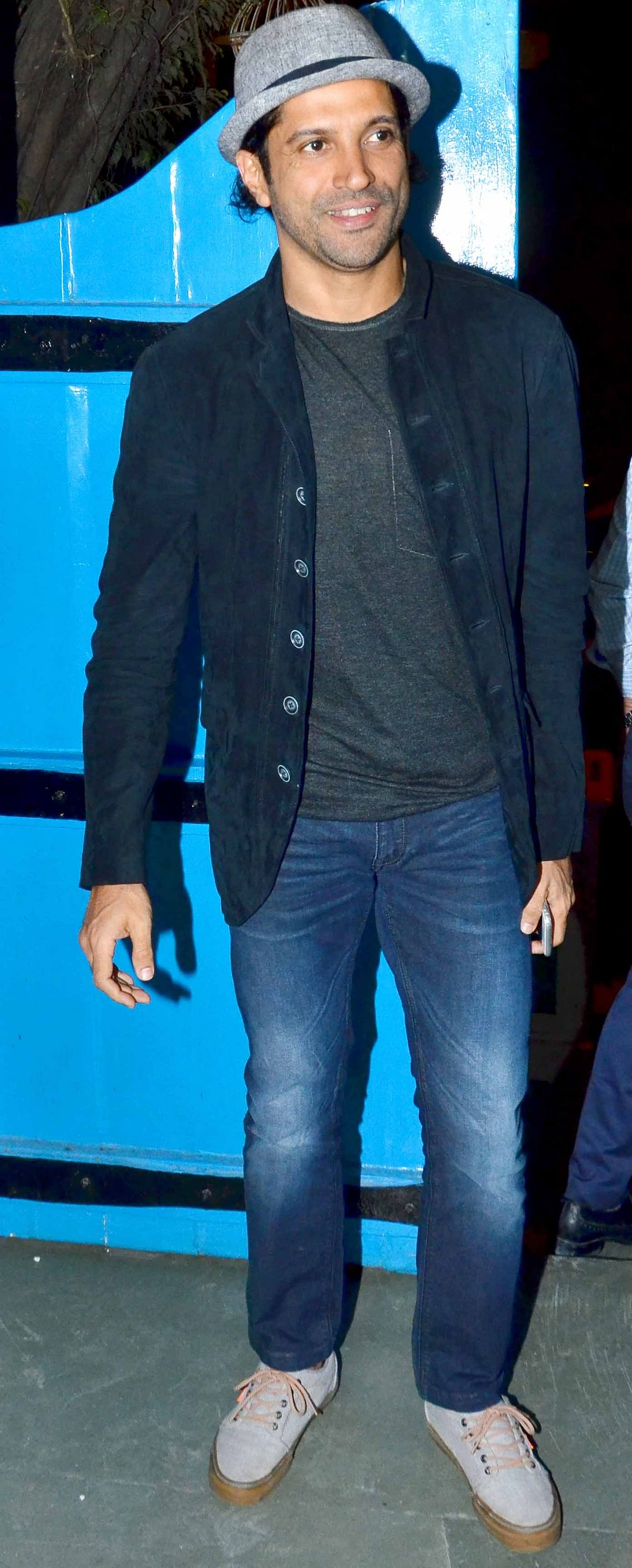 Farhan Akhtar drops by in style (Photo: Yogen Shah)