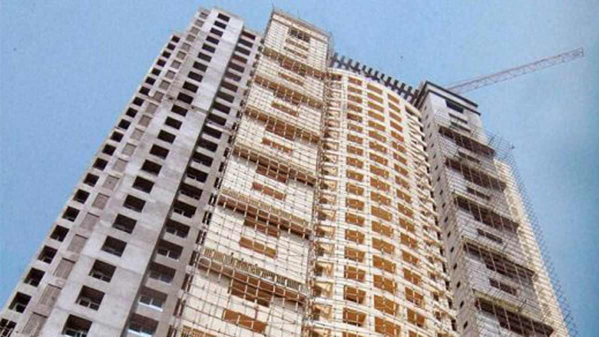 A still of the building in the controversial  Adarsh Society. (PTI)