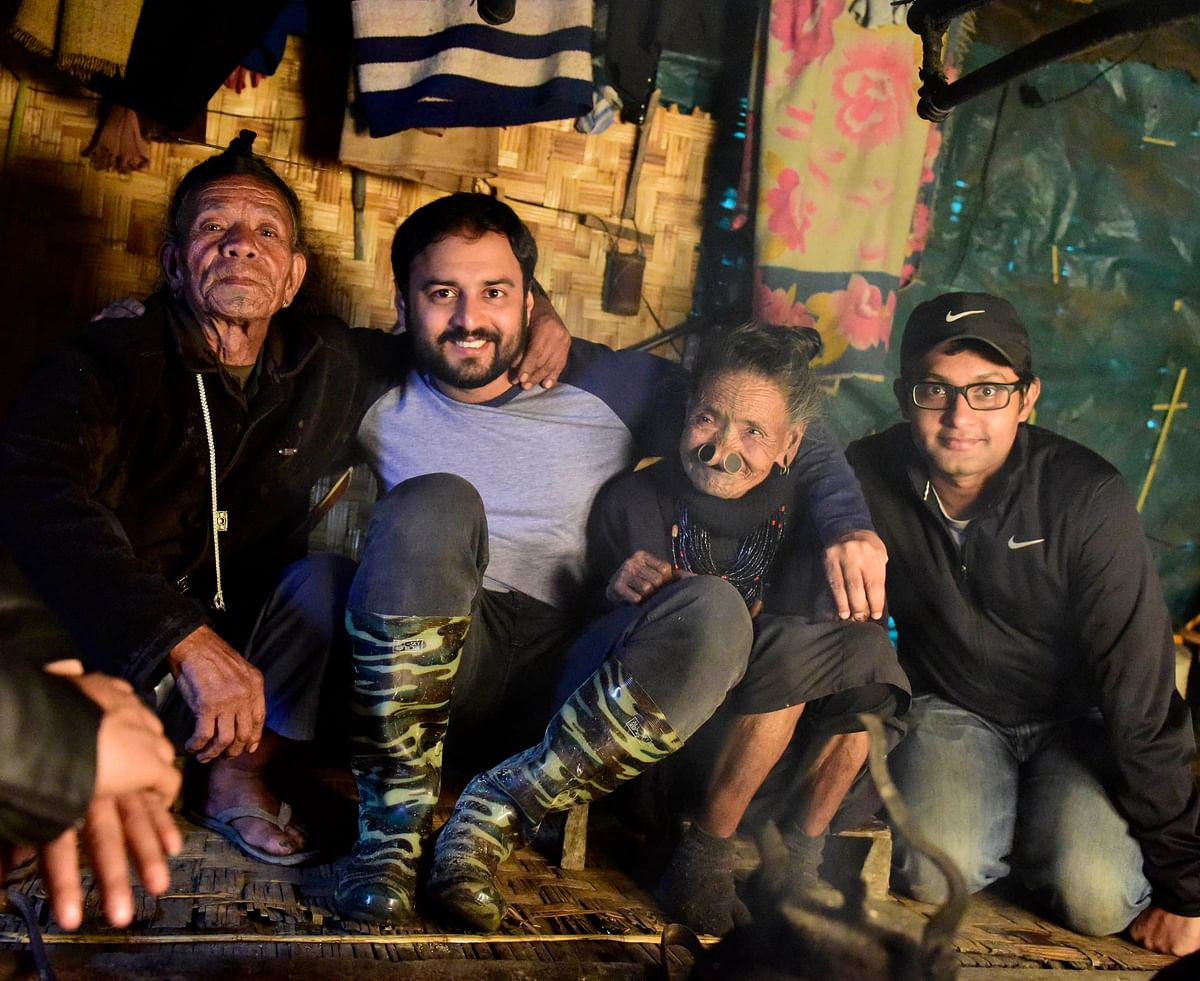 Dani Randa, director Amar Kaushik, Dani's wife and cinematographer Soumik Mukherjee (Photo: Hali Welly)