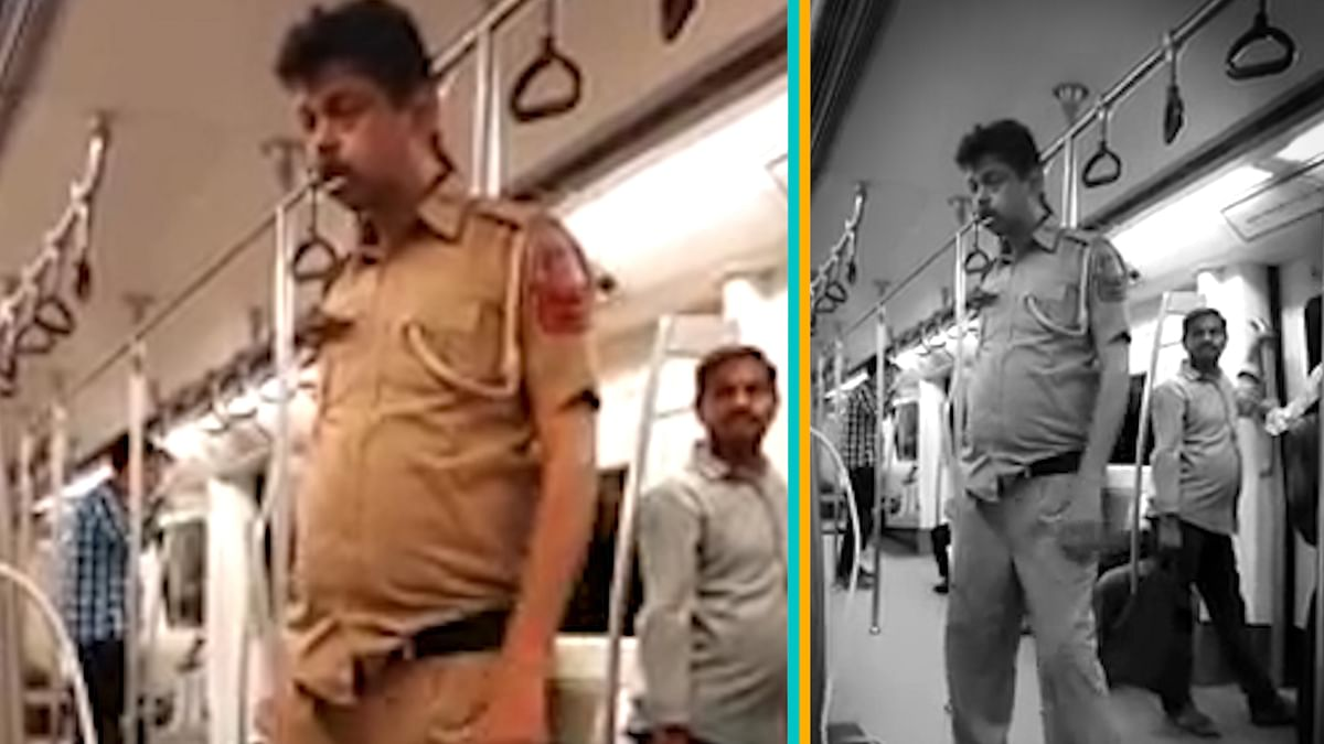 Salim PK was filmed in March, staggering in a Delhi metro, allegedly due to inebriation. (Photo: YouTube Screengrab)
