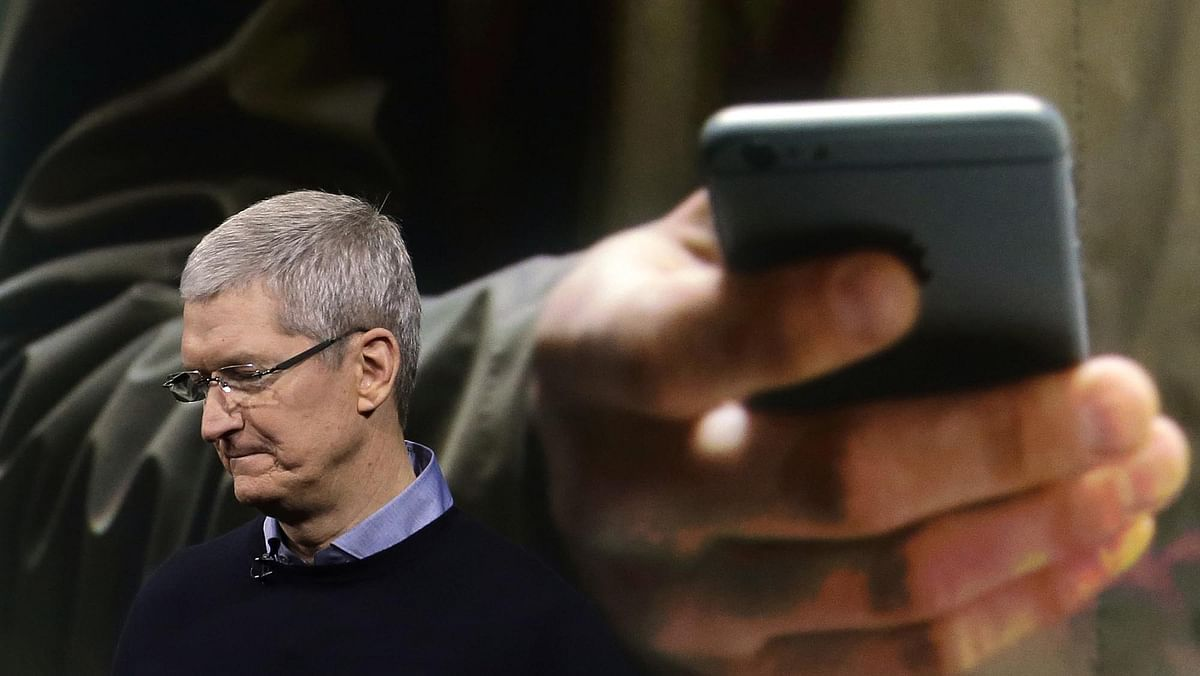 Apple CEO Tim Cook speaks at an event to announce new products at Apple headquarters in Cupertino. (Photo: AP)