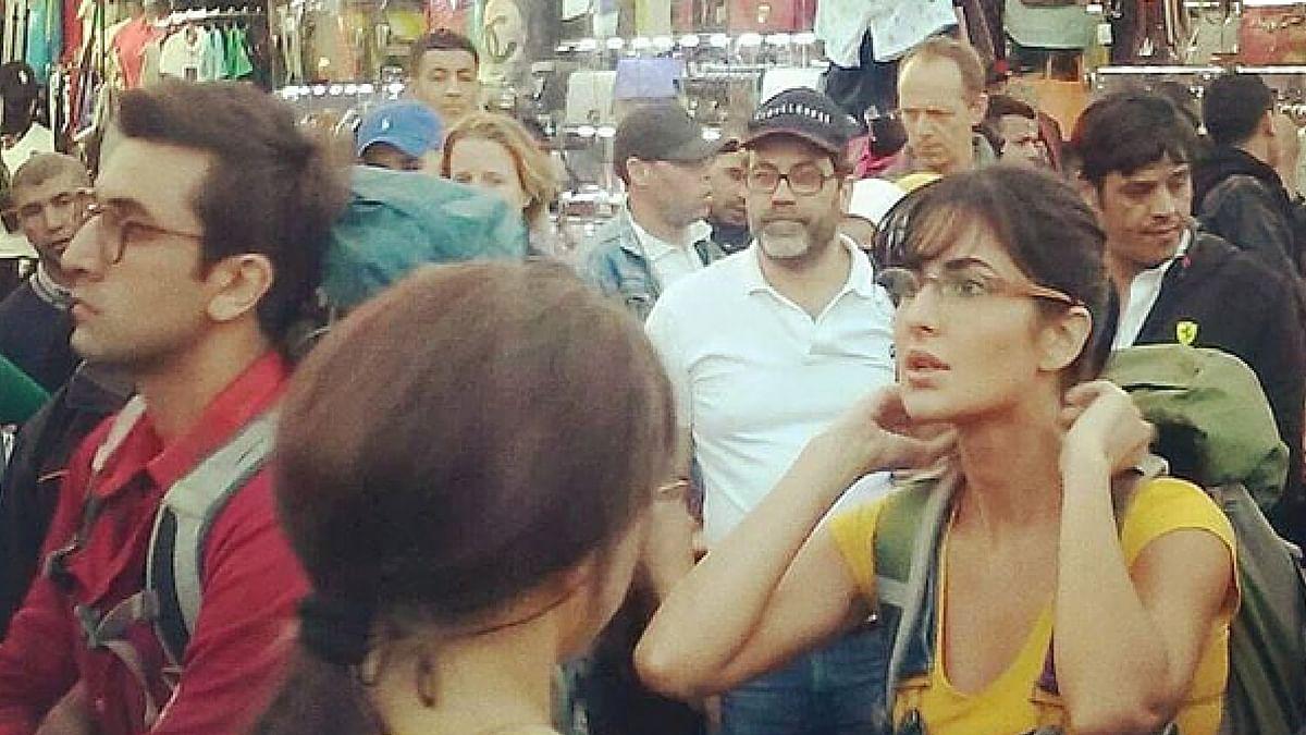 Ranbir and Katrina in Morocco shooting for <i>Jagga Jasoos </i>(Photo: Instagram)