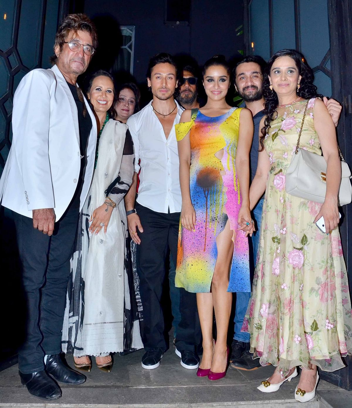 The <i>Baaghi </i>stars in a perfect family picture. (Photo: Yogen Shah)