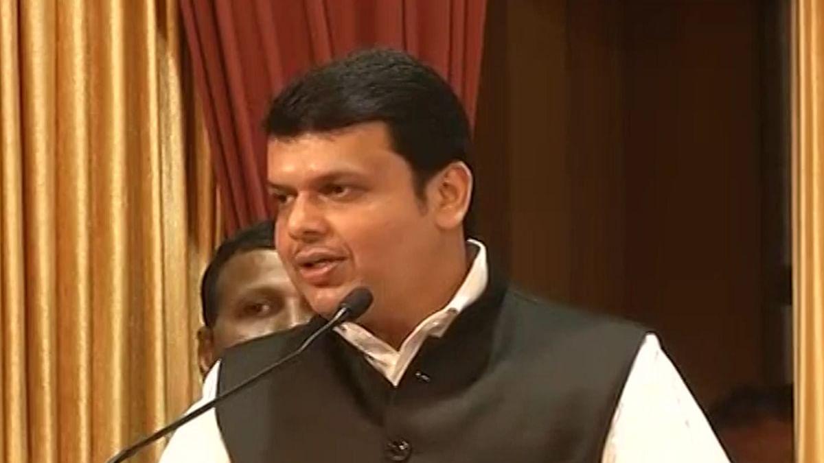 Maharashtra Chief Minister, Devendra Fadnavis. (Photo: ANI screengrab)