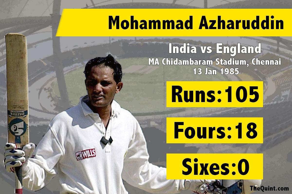 Mohammad Azharuddin's second test century. (Photo: The Quint/Amlan Das)