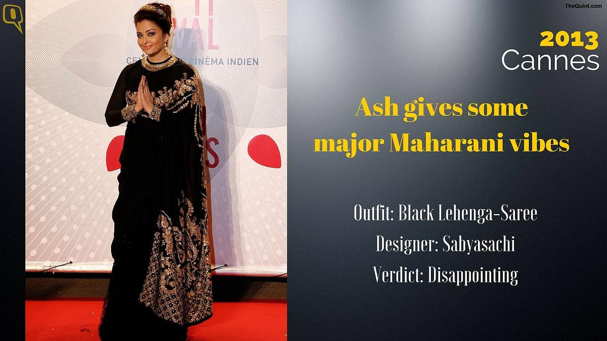 Cannes 2013: Ash gives some major maharani vibes.
