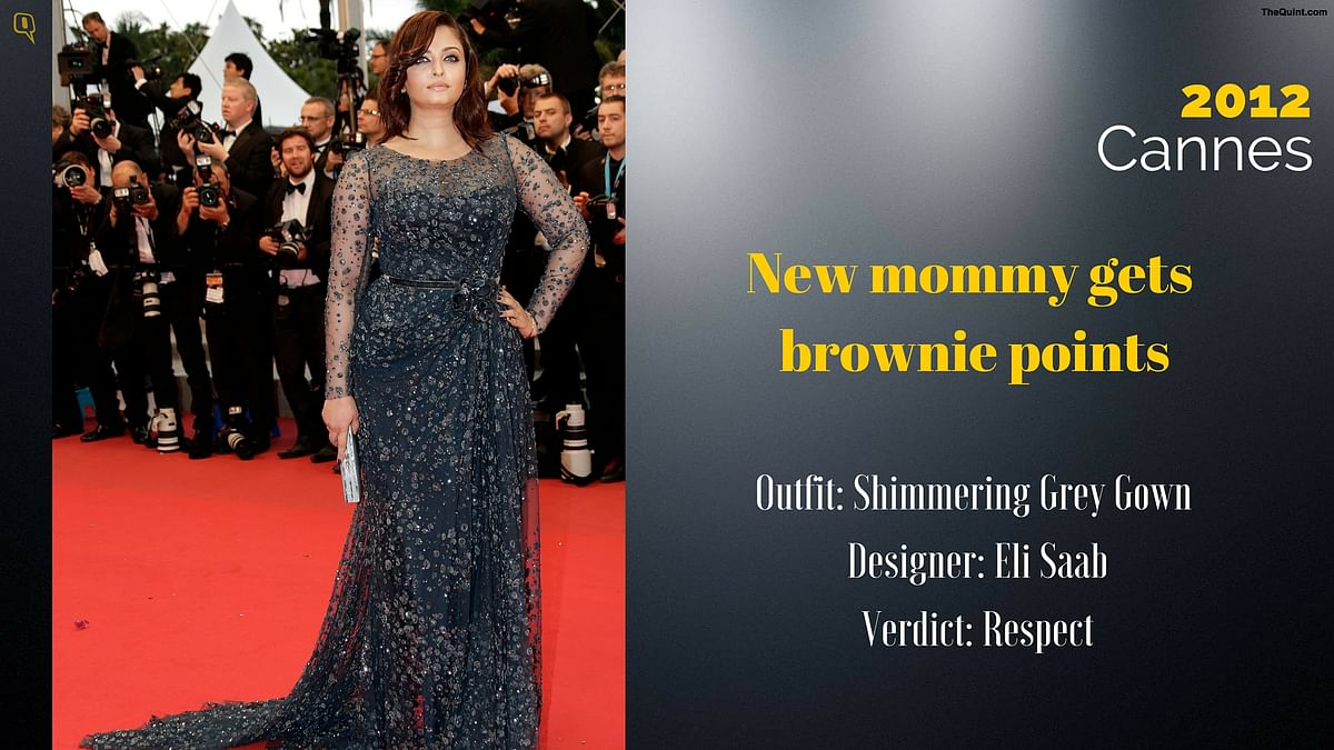 Cannes 2012: New mommy gets brownie points.