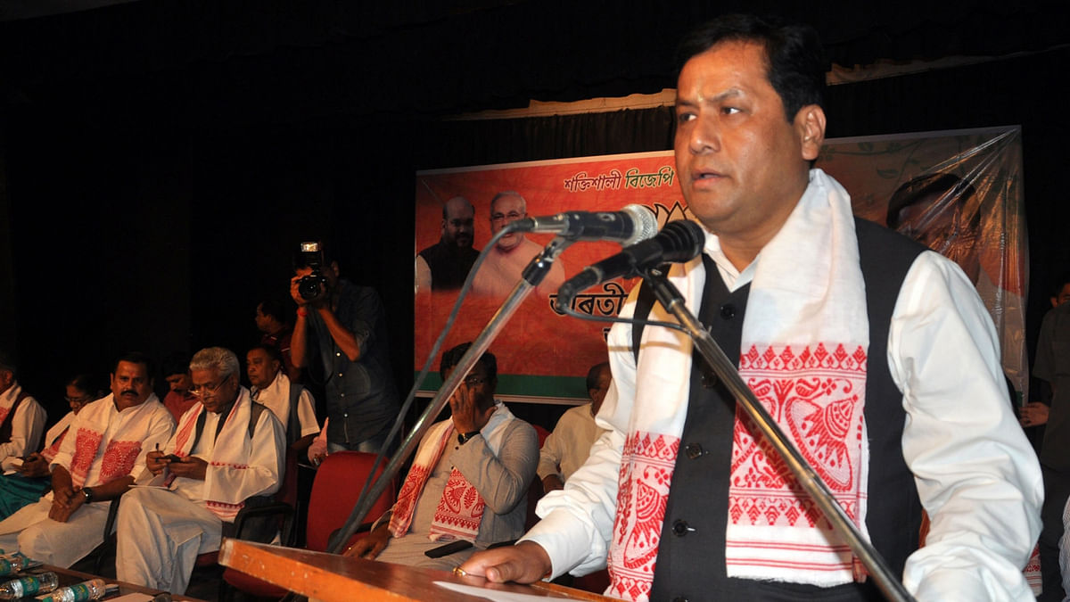 File photo of Assam CM Sarbanand Sonowal.