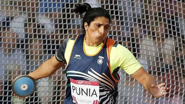 """<div class=""""paragraphs""""><p>Seema Punia qualified for the 2021 Tokyo Olympics on 30 June. </p></div>"""