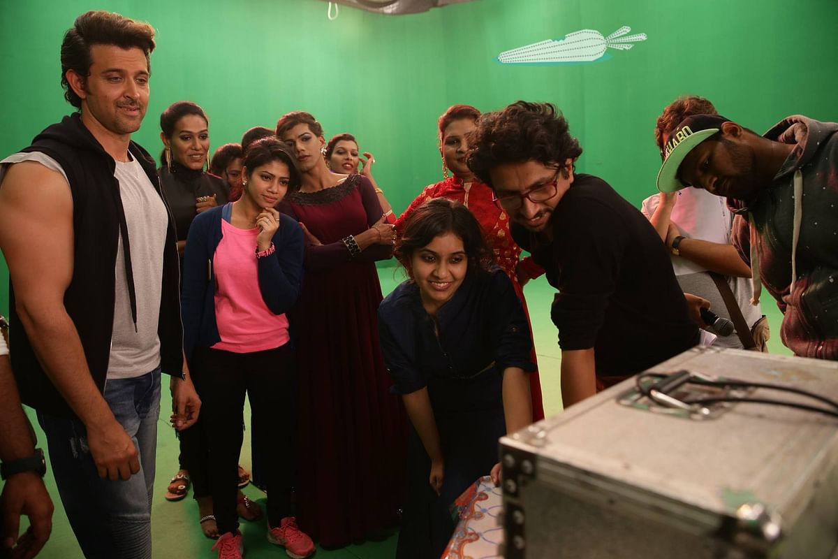 Hrithik Roshan and the Y-Films team works hard to get it right (Photo: Facebook/Invisible Rabbit)