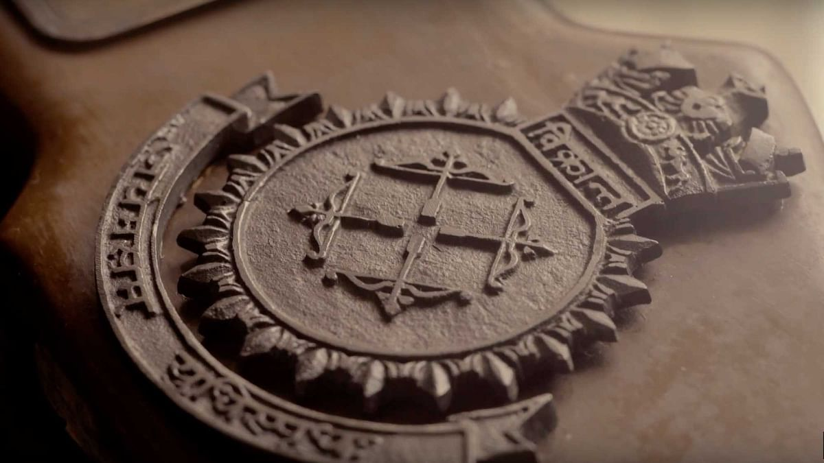The invincible INS Vikrant emblem. (Photo: Bajaj)