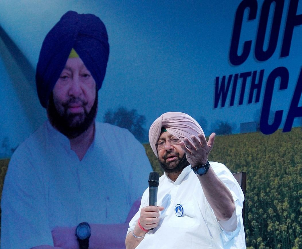 Punjab Congress chief Capt. Amarinder Singh during Coffee with Captain campaign in Amritsar, on March 31, 2016. (Photo: IANS)