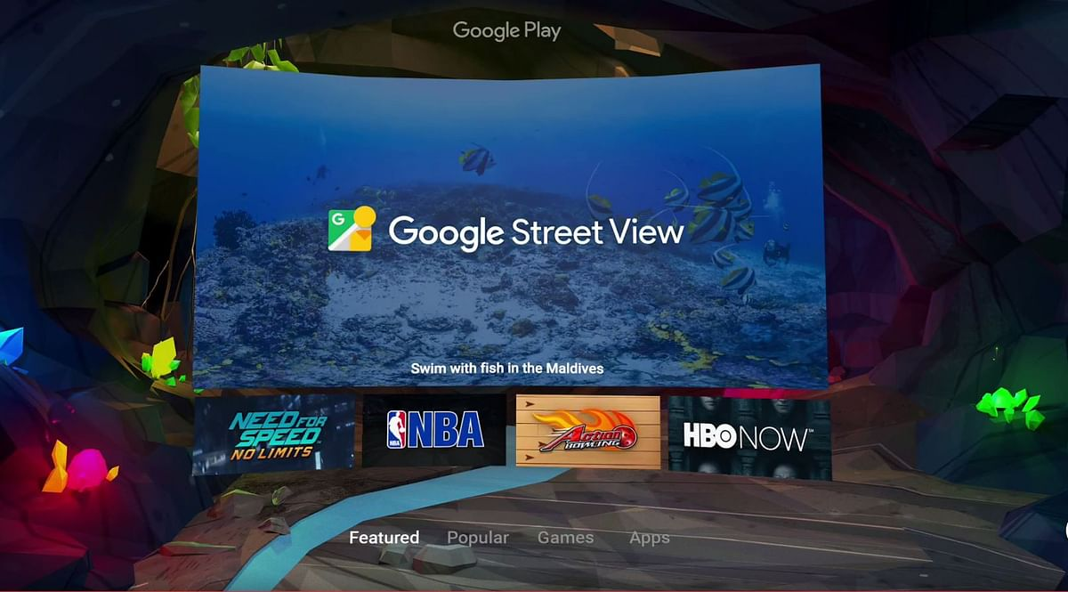 Google Play offers VR apps. (Photo: Google)
