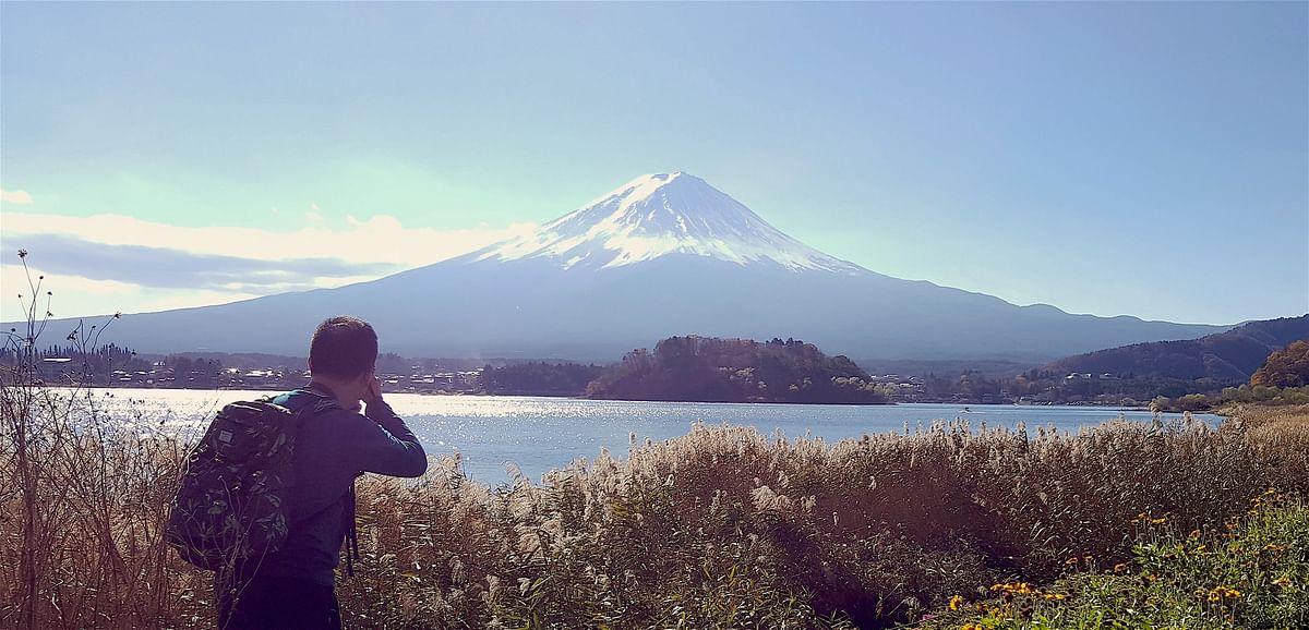 Mount Fuji from Lake Kawaguchiko. (Photo Courtesy: Ashwin Rajagopalan)