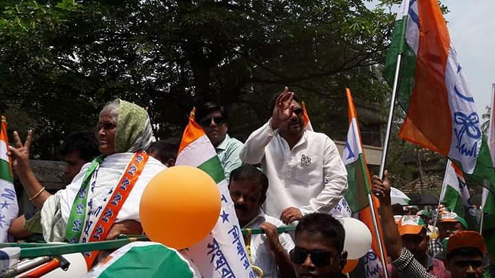 Firoza Bibi, the Nandigram Trinamool Congress MLA who has been moved to contest from the Panshkura constituency this time. (Photo courtesy: Anil Giri)